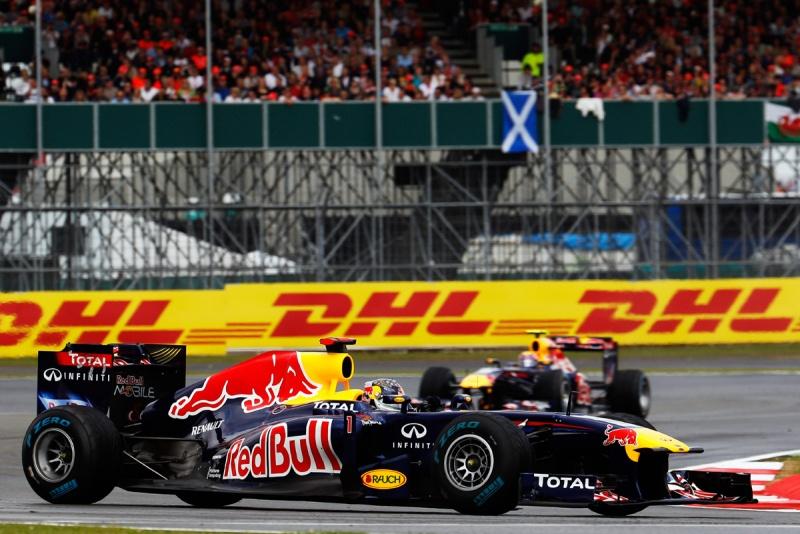 Sebastian Vettel e Mark Webber no GP da Grã-Bretanha