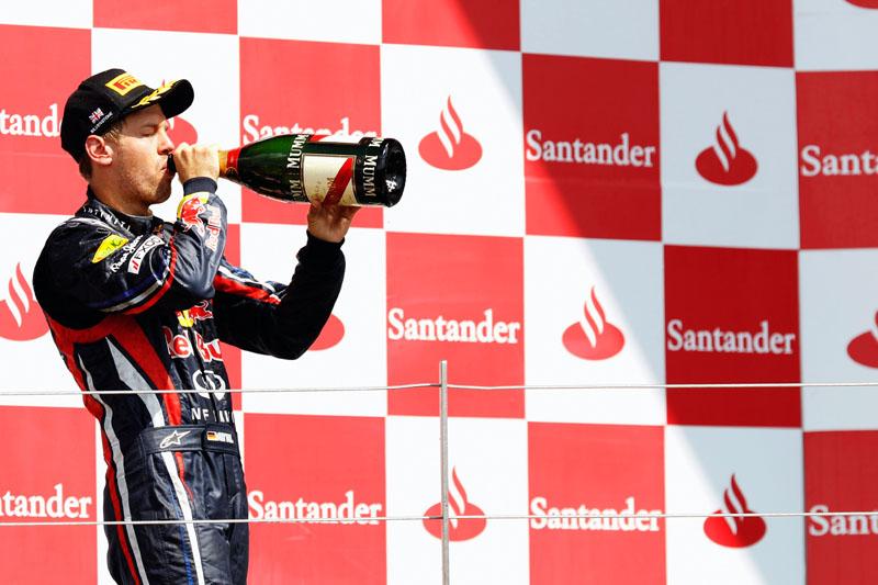 Vettel: champanhe não foi tão saboroso em Silverstone