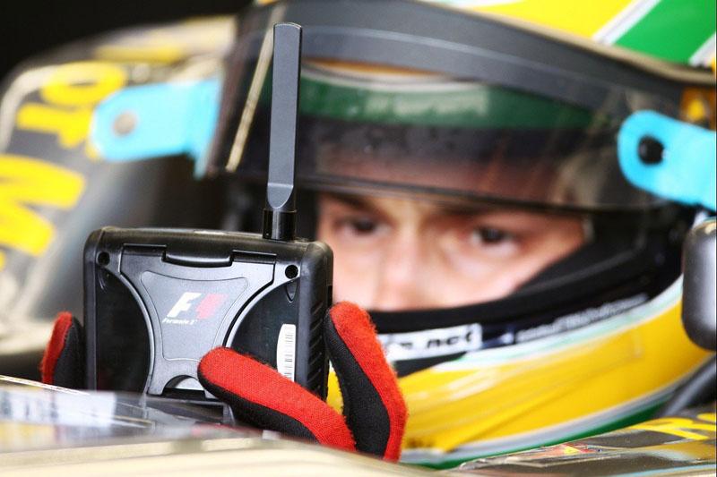 Bruno Senna durante sua temporada de estreia