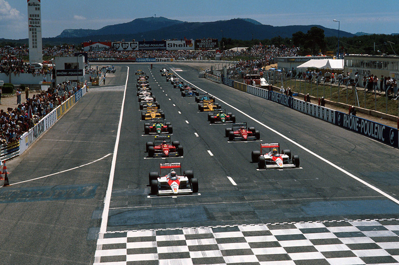 Largada do GP francês de 1988