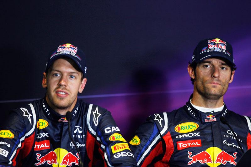 Webber não gostou nada das ordens para ficar atrás de Vettel