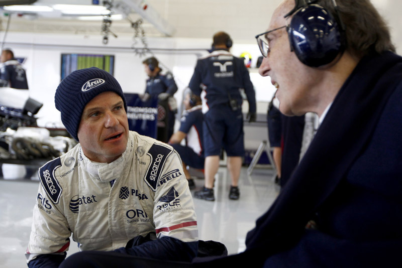 Barrichello e Frank Williams