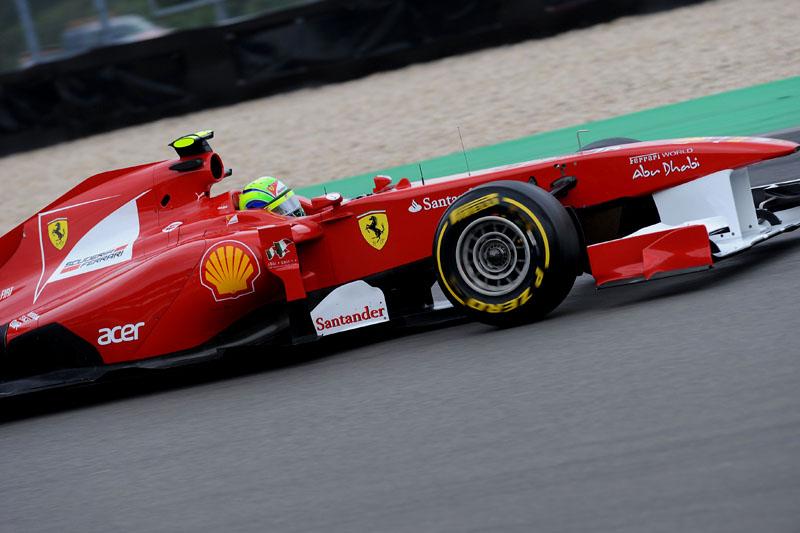Felipe Massa a bordo da 150º Italia em Nurburgring