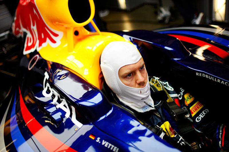 Sebastian Vettel: com frio em Nurburgring