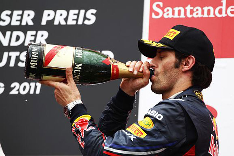 Webber foi o terceiro colocado em Nürburgring