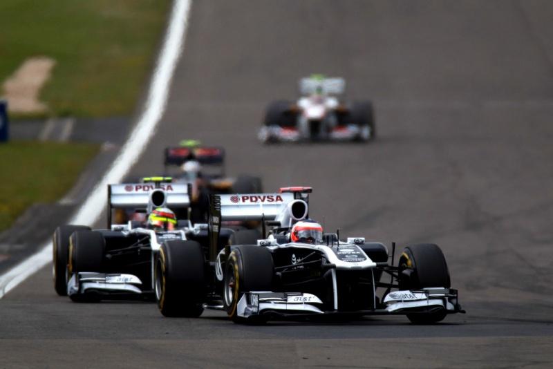 Rubens Barrichello e Pastor Maldonado