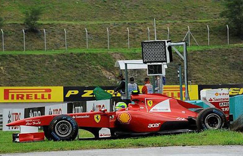 Escapada prejudicou a corrida de Massa