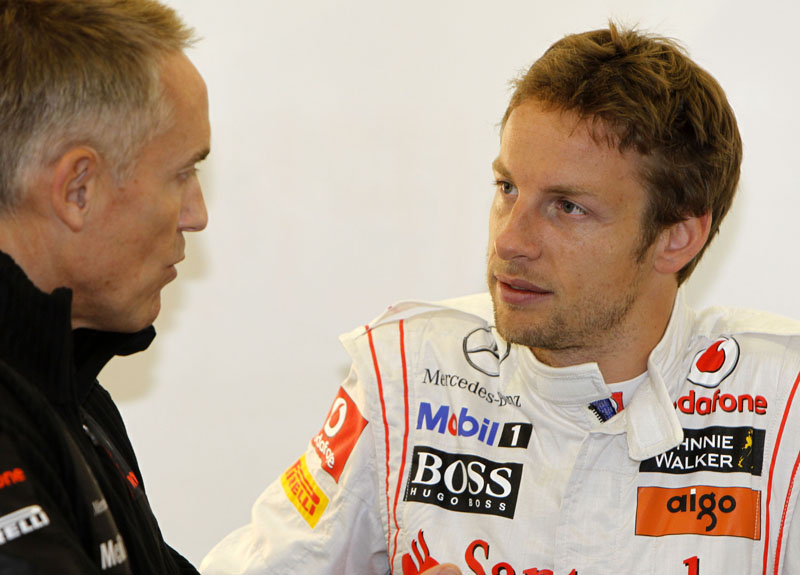 Martin Whitmarsh e Jenson Button