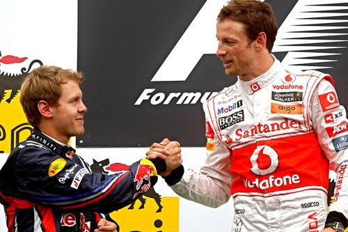 Sebastian Vettel e Jenson Button
