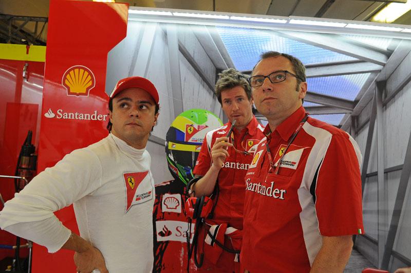 Felipe Massa e Stefano Domenicali