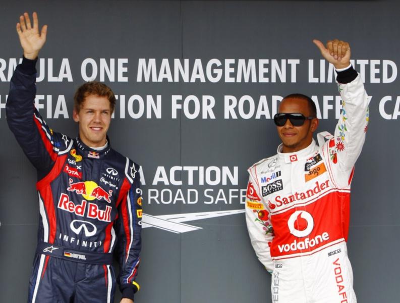 Hamilton ficou na cola de Vettel na classificação do GP da Hungria