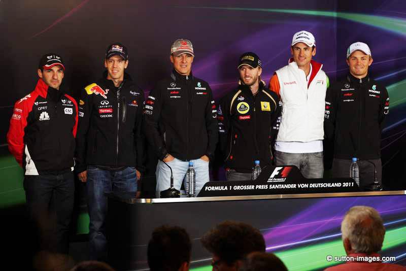 Glock, Vettel, Schumacher, Heidfeld, Sutil e Rosberg