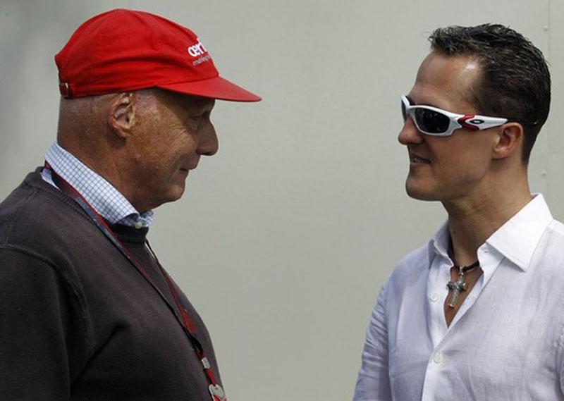 Lauda e Schumacher