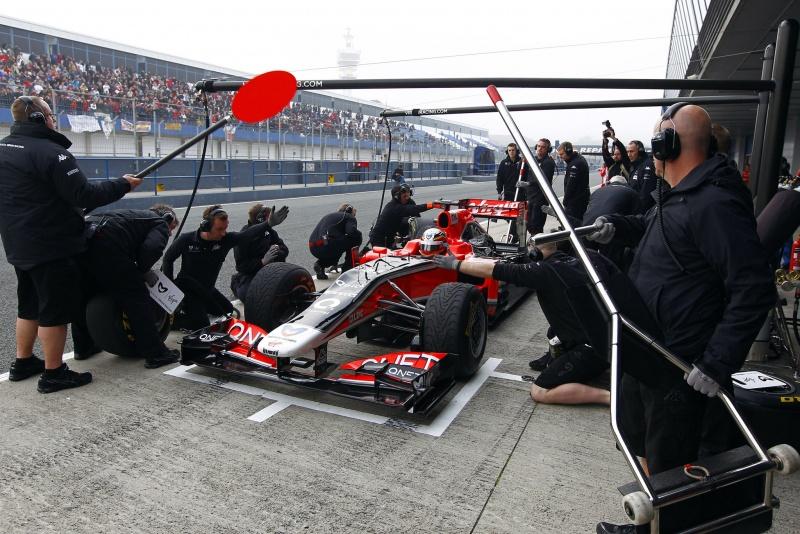 Virgin ensaia pit stop na pré-temporada