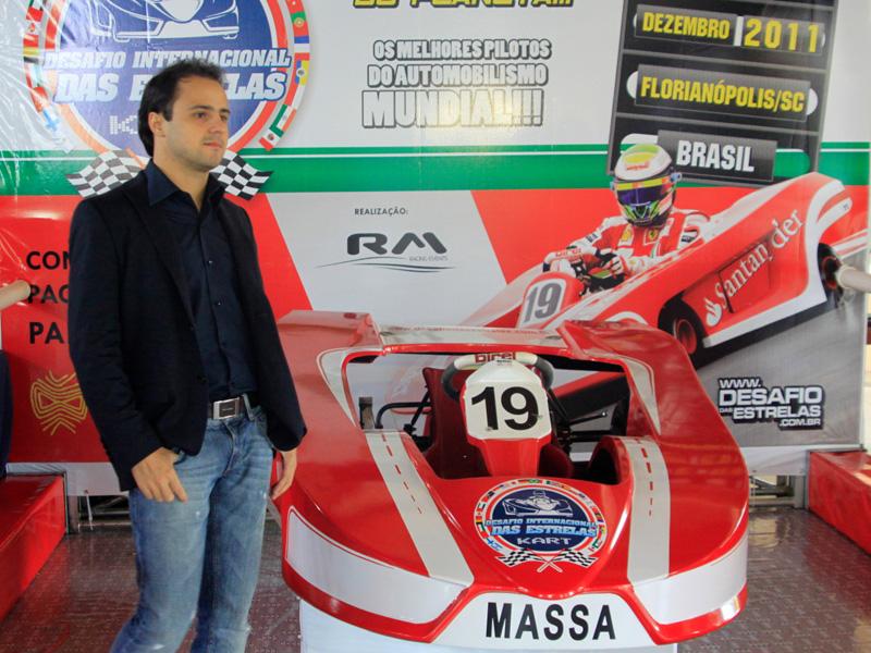 Felipe Massa na coletiva de lançamento do Desafio 2011