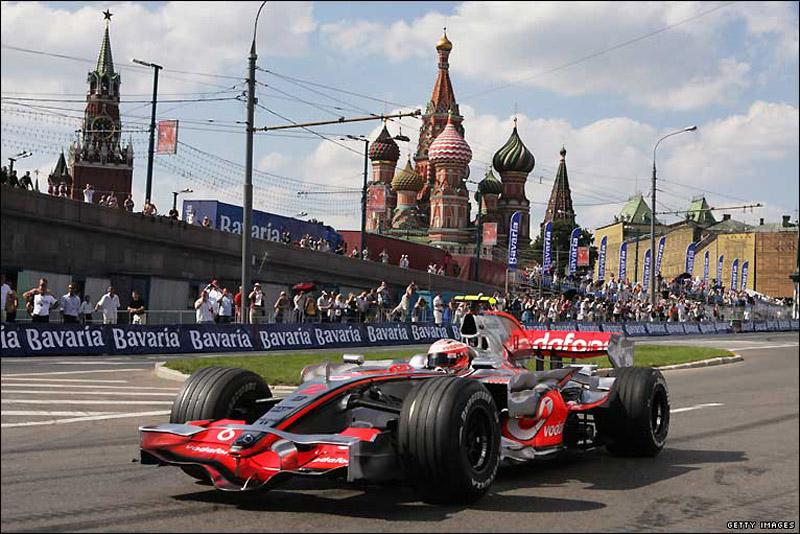 Várias equipes de F-1 já fizeram demonstrações na Rússia nos últimos anos