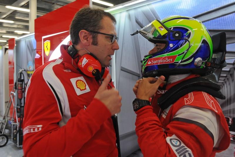 Domenicali reiterou apoio da Ferrari ao brasileiro, cujo contrato atual vai até o final de 2012