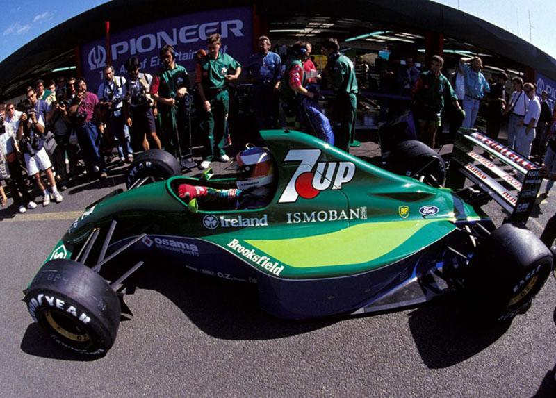Schumacher no final de semana de sua estreia na F-1