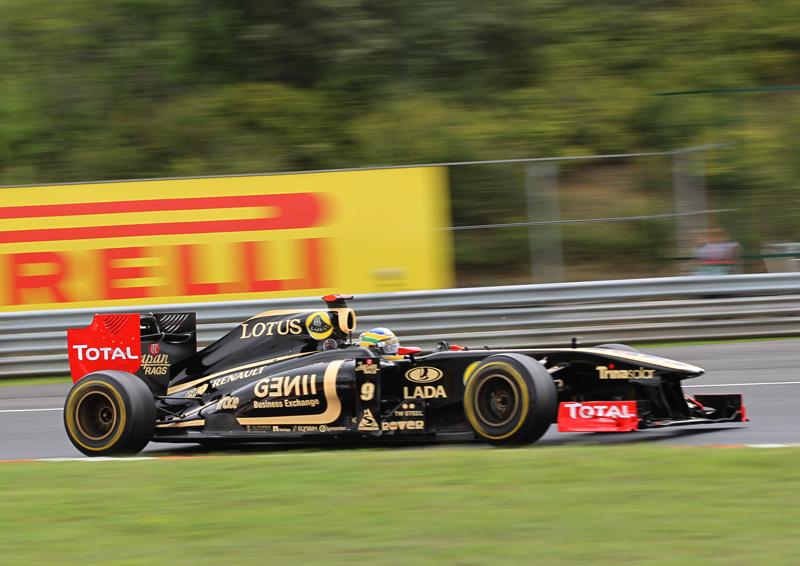 Bruno Senna durante treino livre para o GP da Hungria