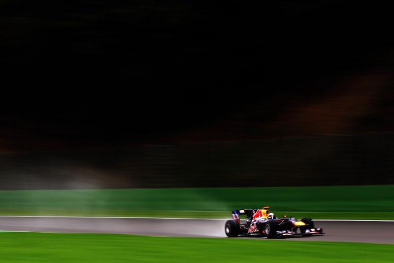 Vettel durante a corrida do ano passado em Spa
