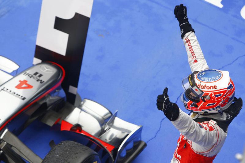 Jenson Button espera repetir esta cena em Spa