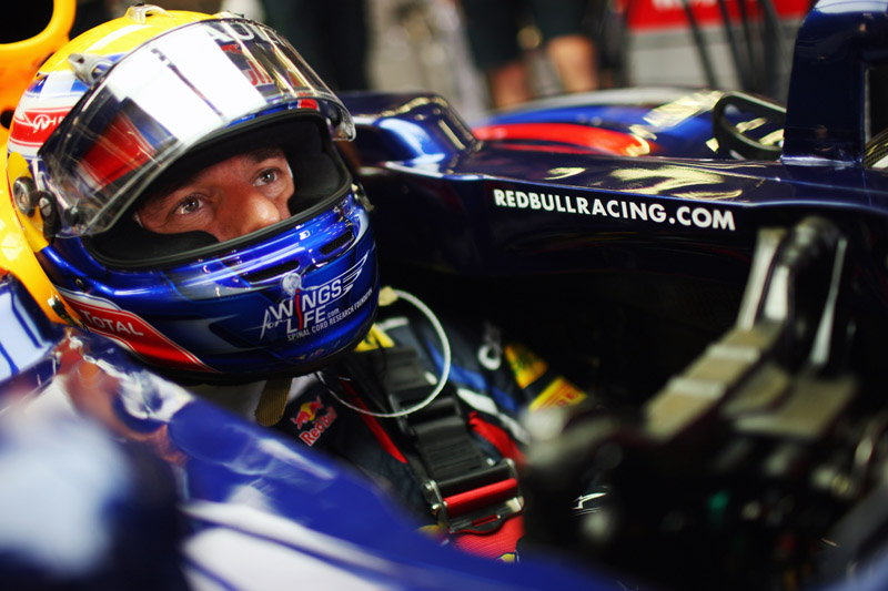 Mark Webber em Spa-Francorchamps