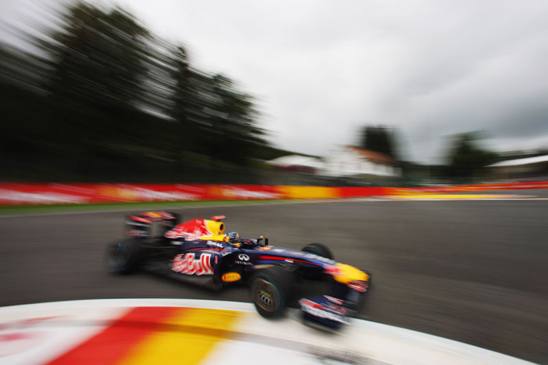 Sebastian Vettel, absoluto em Spa-Francorchamps