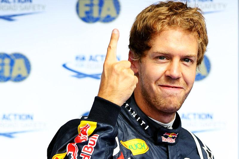 Vettel e o número 1: combinação vista sete vezes no alto do pódio