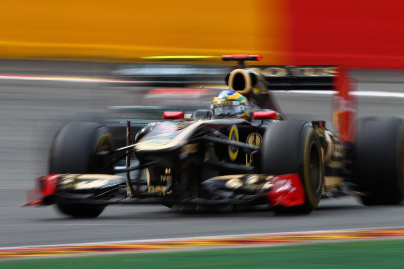 Bruno Senna durante o GP da Bélgica