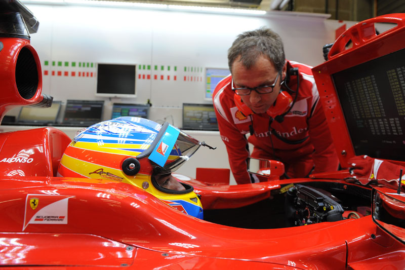 Domenicali com Alonso