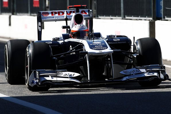 Barrichello deixa os boxes de Monza (Foto: Reprodução)