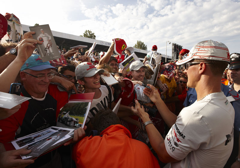 Schumacher destacou o calor da torcida italiana