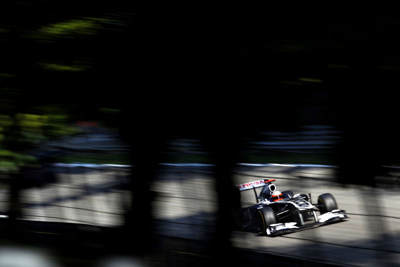 Barrichello andou sozinho por boa parte da prova