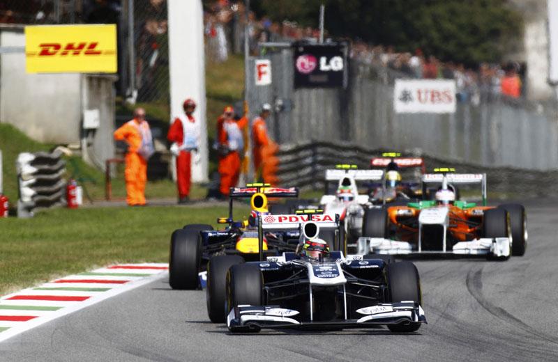 Maldonado lidera pelotão em Monza