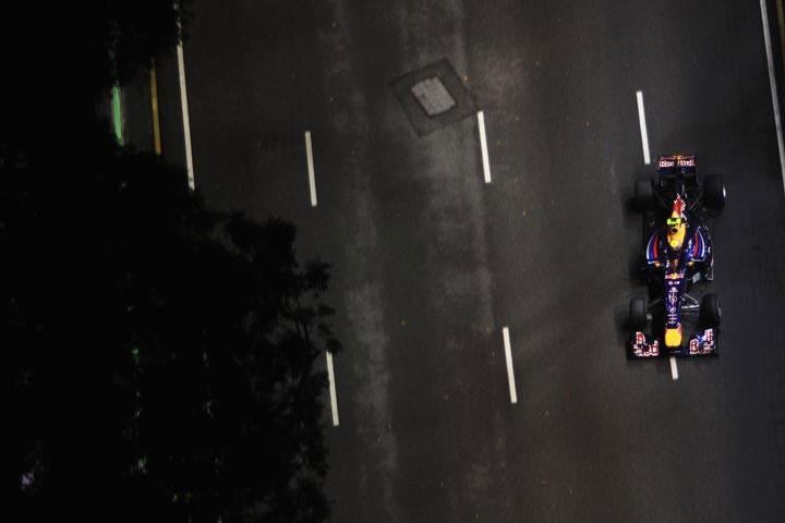 Mark Webber em Cingapura