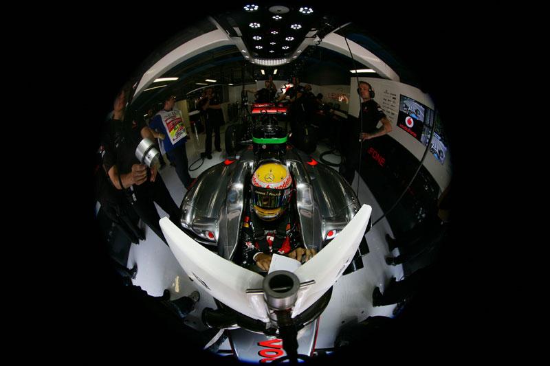 Lewis Hamilton: animação a mil