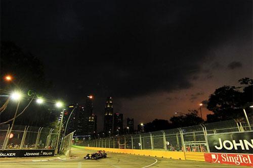 Carro da Red Bull em Cingapura