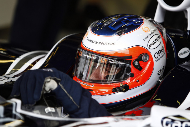 Rubens Barrichello deixa os boxes da Williams