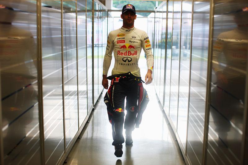 Webber não vinha bem no final de semana