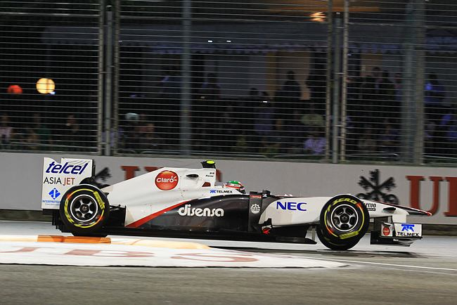 Sergio Perez em Cingapura