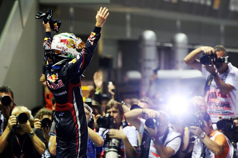 Vettel comemora a nona vitória do ano, em Monza