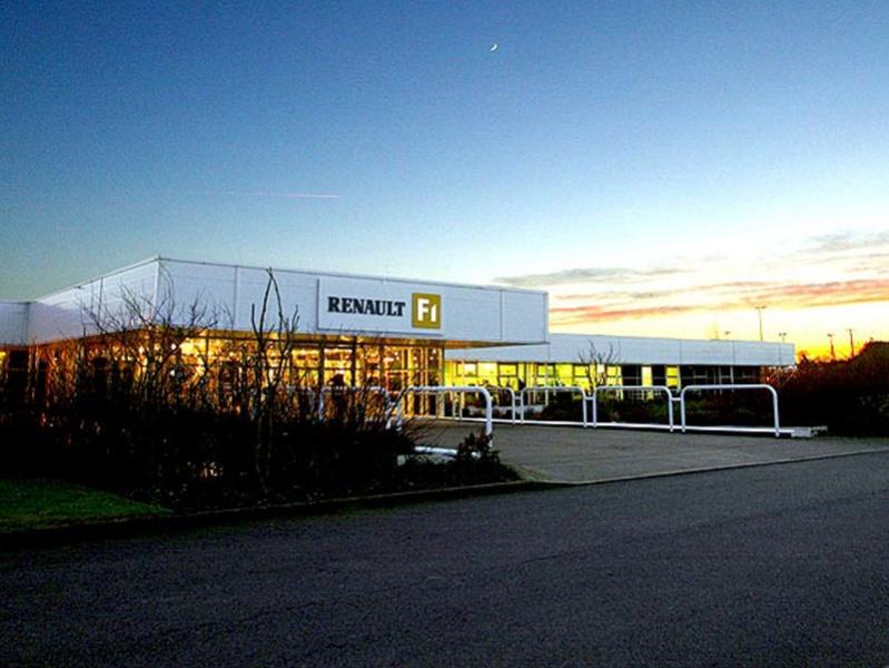 A fábrica da Renault, em Enstone