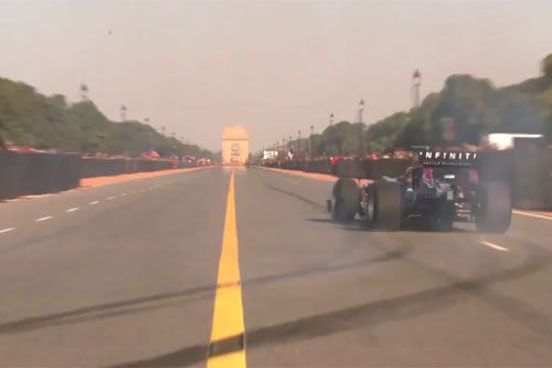 Ricciardo e a Red Bull em Nova Delhi