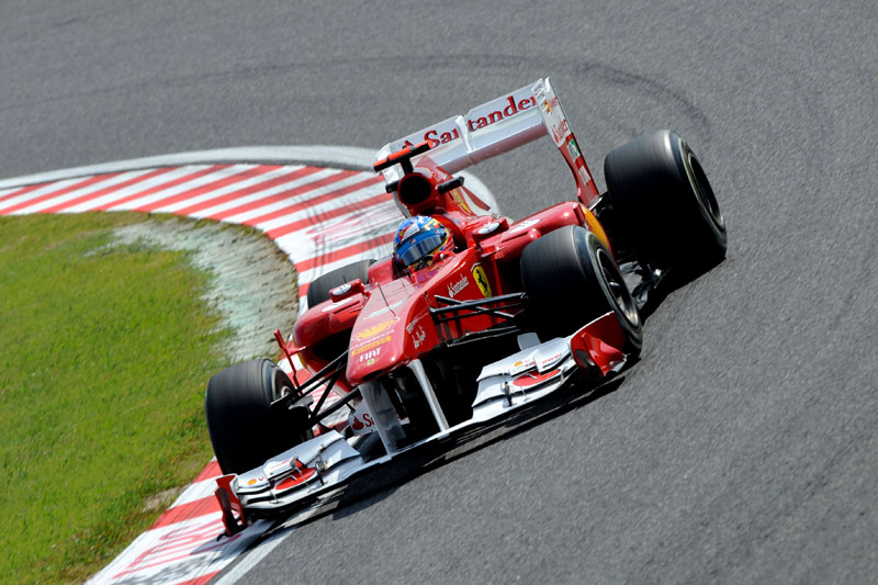 Alonso foi o segundo nos treinos livres em Suzuka