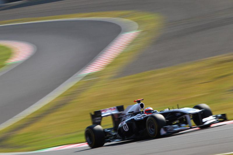 Barrichello ficou atrás do companheiro Maldonado