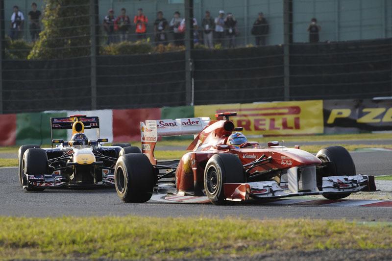 A Ferrari não esperava andar na frente da Red Bull em Suzuka