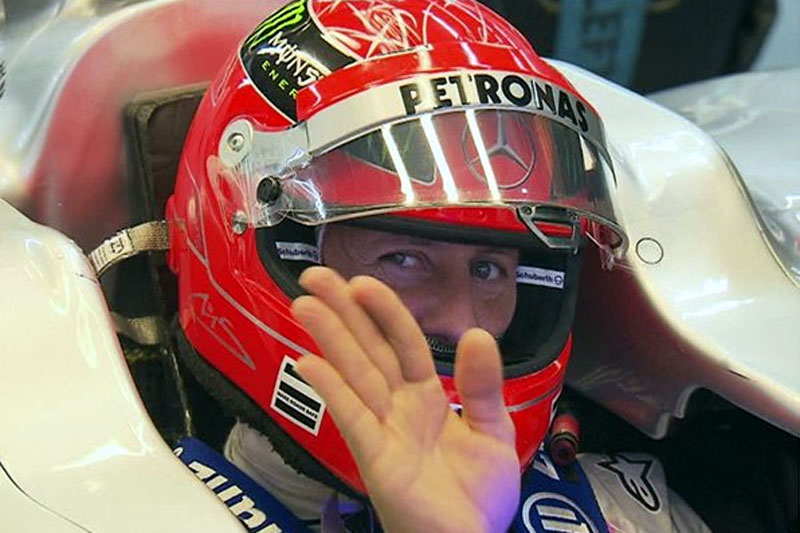 Michael Schumacher: só sorrisos na Coreia