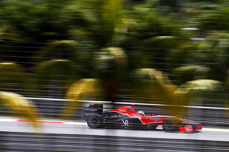 Timo Glock abandonou a prova da Malásia no ano passado