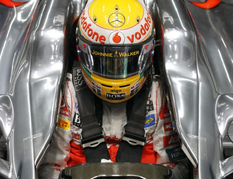 Hamilton não era pole desde o GP do Canadá de 2010