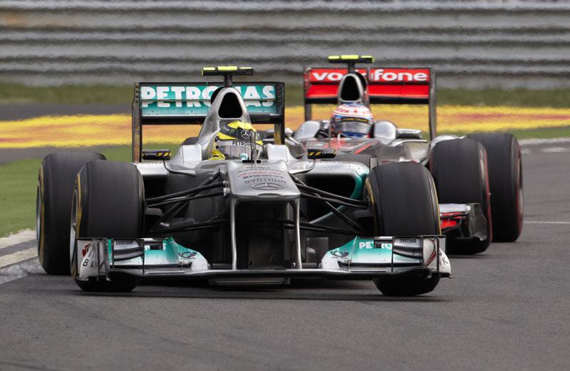 Rosberg segurou muito carro de ponta na Coreia